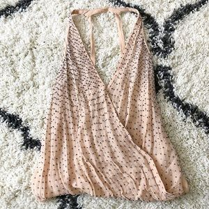 Zara | Beaded Wrap Tank Top